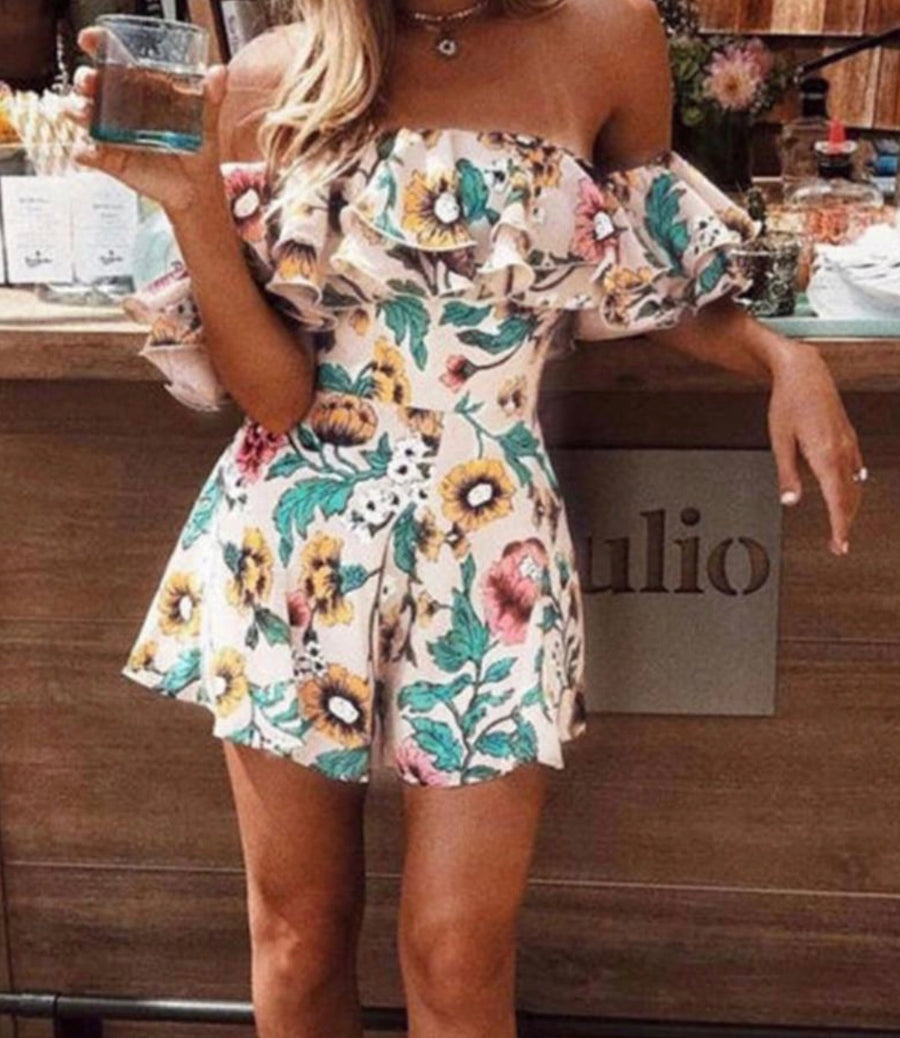 'Sienna' Bardot playsuit