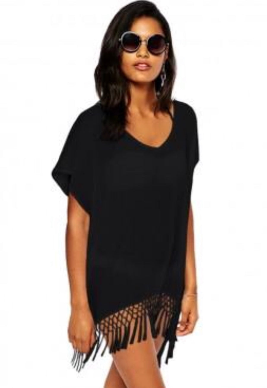 'Bali' black Kaftan cover up