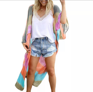 ' Tania' tie dye effect cover up