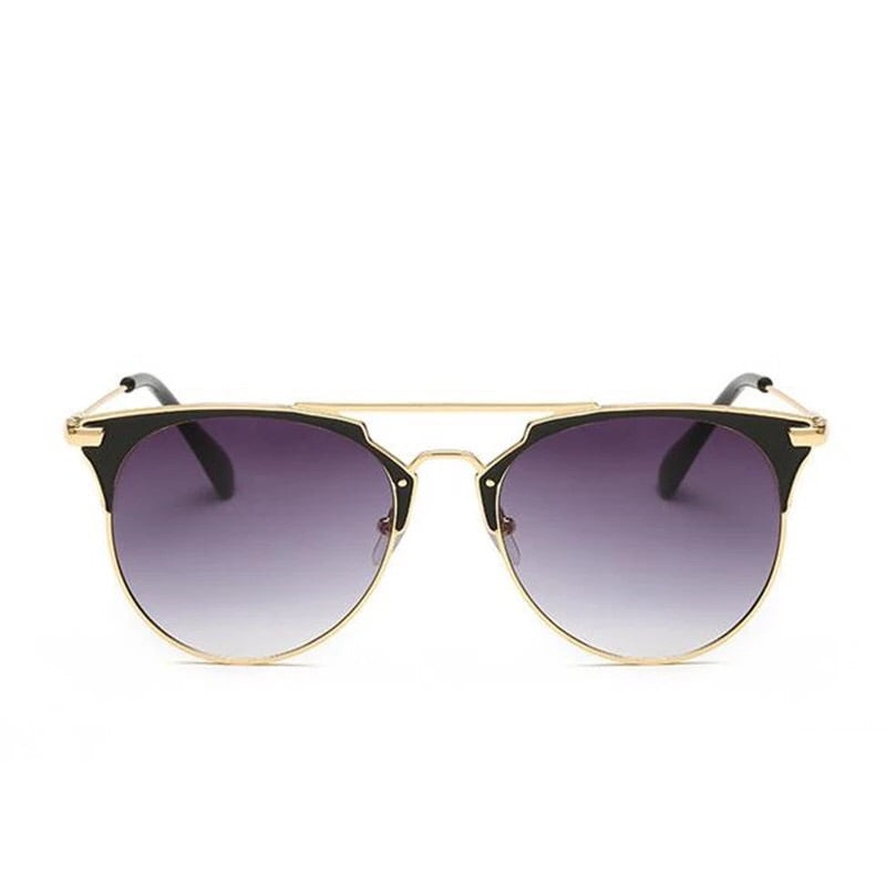 'Ariana' Black and gold Sunglasses