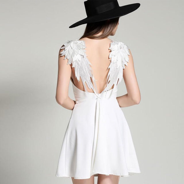 'Angel Wings' dress- White - Bikini Genie