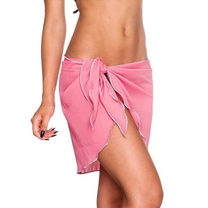 'Lillie' Pink Wrap skirt