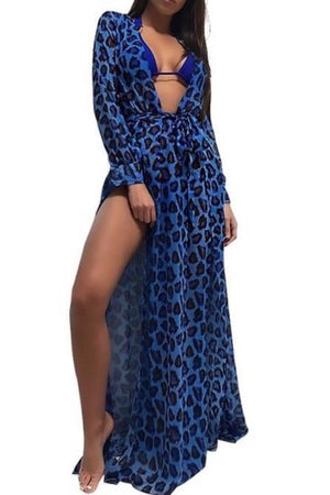 'Eden' Blue Leopard Cover Up