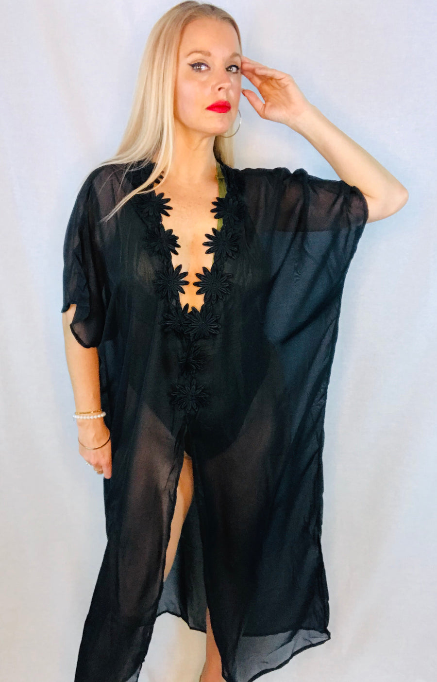 ' Tina ' Black cover up