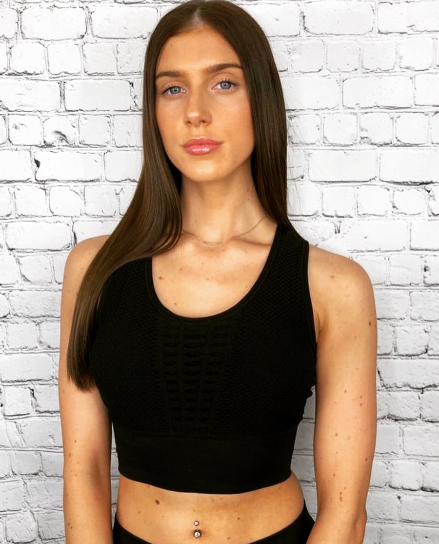 'Angelina' sports bra crop top - Bikini Genie