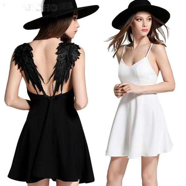 'Angel Wings' dress- Black