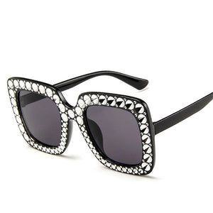 'Paris' Oversize Black Sunglasses - Bikini Genie