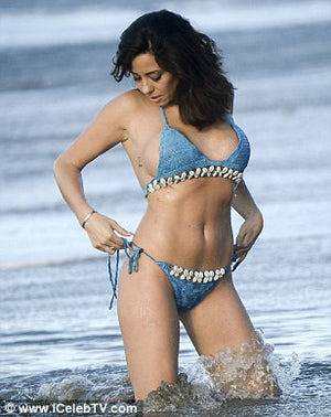 Turquoise Crochet and Shell Bikini- SPECIAL OFFER - Bikini Genie