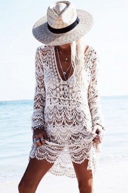 'Tranquility' crochet kaftan cover up