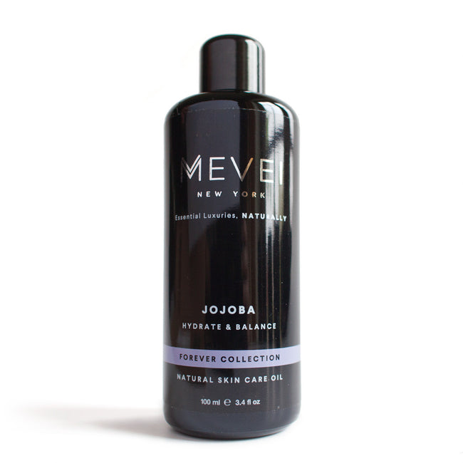Jojoba Oil- Forever Collection from MEVEI (100 ml/ 3.4 fl oz). Jojoba Oil has natural SPF and anti-bacterial properties that make it an excellent choice for the skin and hair.