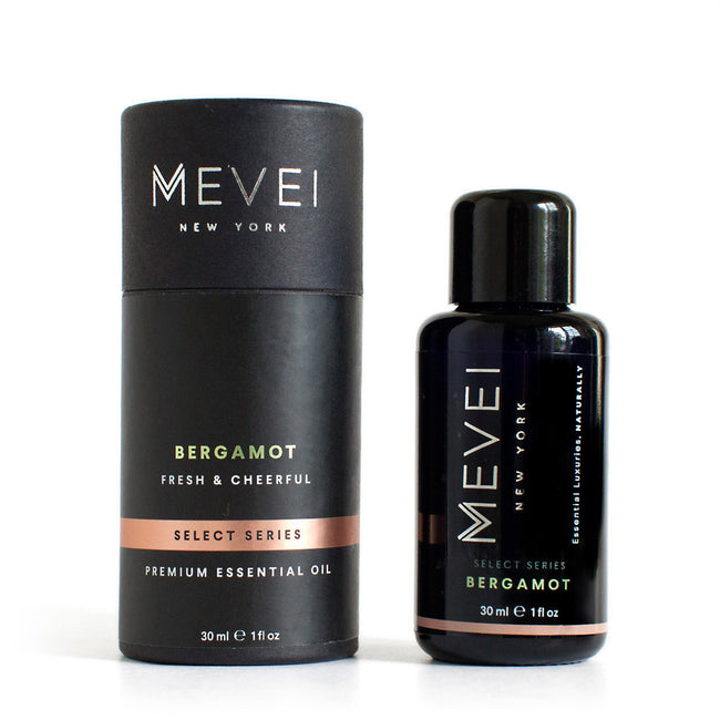Bergamot Luxury Essential Oil by MEVEI. Bergamot is citrusy oil that lifts your mood up instantaneously.