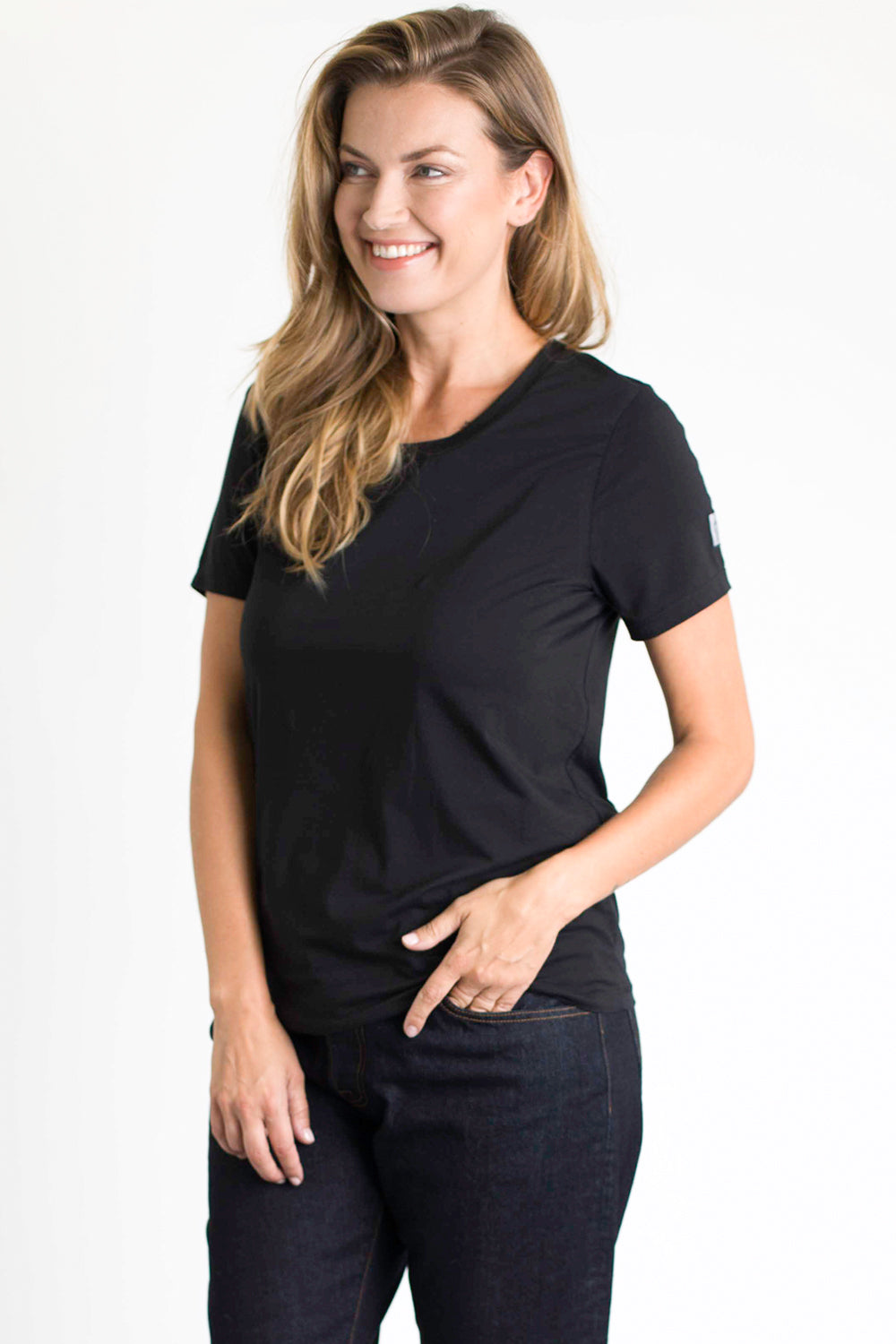 Women's Crew Neck Tee (Black)