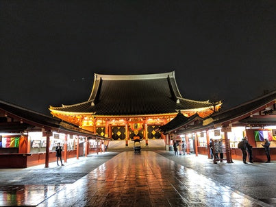 Asakusa Temple at night