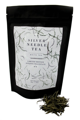Dinjoye Silver Needle White Tea Pack and tea