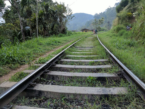 Train tracks in Ella, Sri Lanka