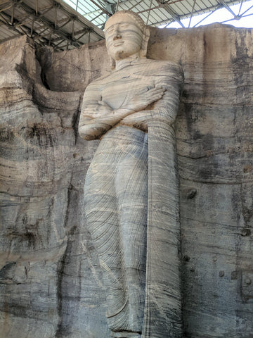 One of the statues at Gal Vihara