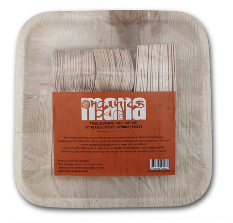 Mana Areca Palm Leaf Plates Packed