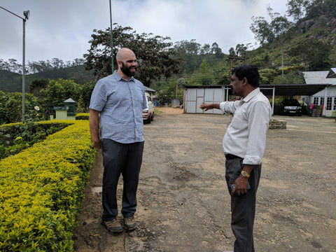 Meeting an organic planter in Sri Lanka