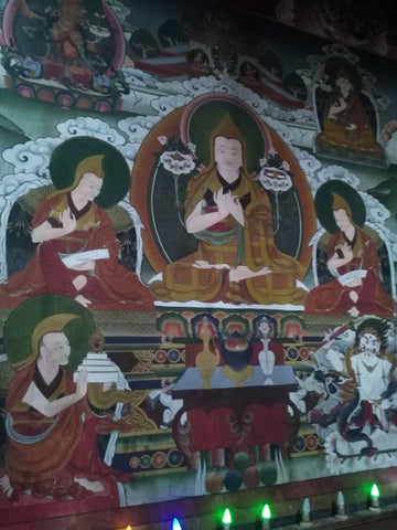 Murals of the incarnations of the Dalai Lama