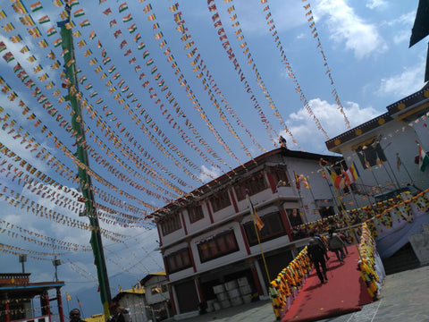 Tawang monestary's main square
