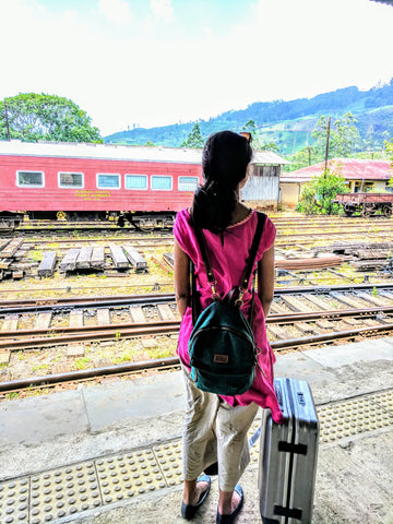 Avantika waiting for the train to Ella