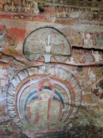 Ceiling of the Dambulla Cave Temple