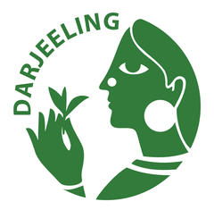 The logo for Darjeeling tea. Look for the logo to ensure you tea is authentic Darjeeling.