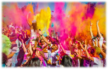 Holi festival celebrates Vishnu and the triumph of good over evil