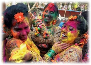 Our Tea Garden in Assam celebrates Holi and Vishnu