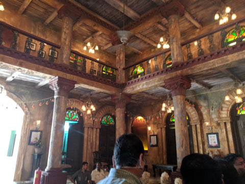 Old Bengali house pandal from interior 2018