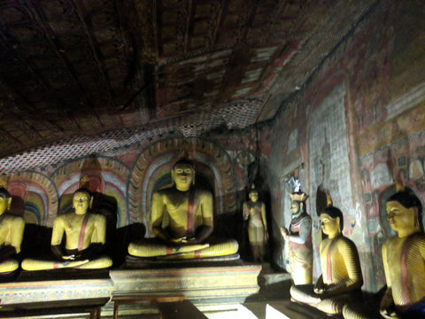 Interior of the Dambulla Cave Temple