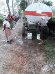 Hand washing truck on Chota Tingrai Tea Estate