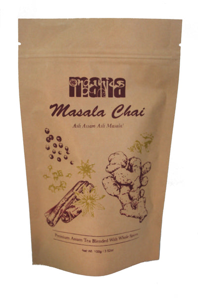 Organic Masala Chai by Mana Organics – Authentic Indian Chai Featuring Assam Tea