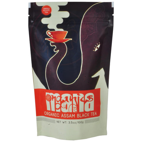 Mana Organics Loose Leaf Tippy Golden Flower Orange Pekoe tea package FRONT