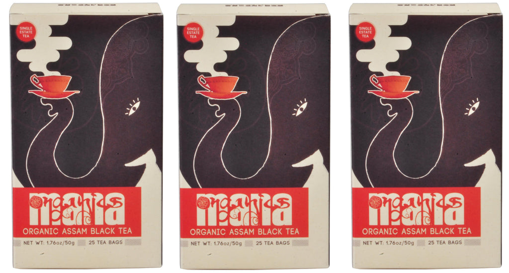 Mana Organics Organic Black Tea Bags Box Triple Pack
