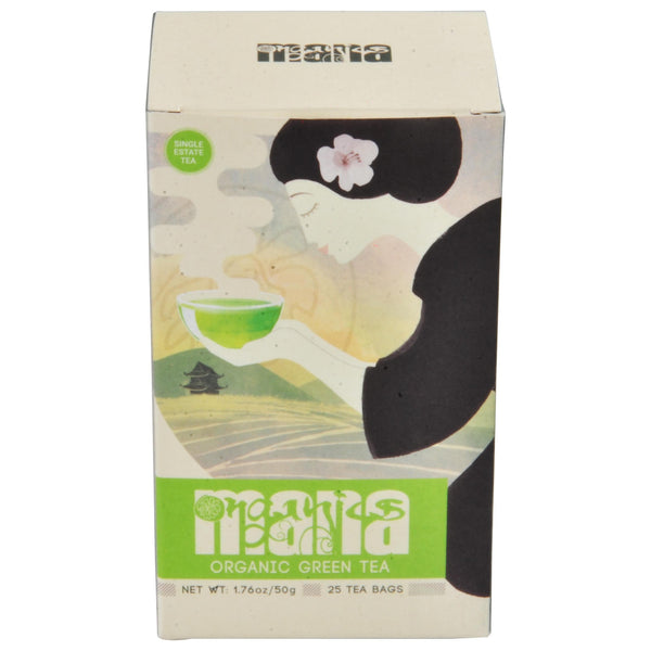 Mana Organics Organic Green Tea Bags Box Top of Box