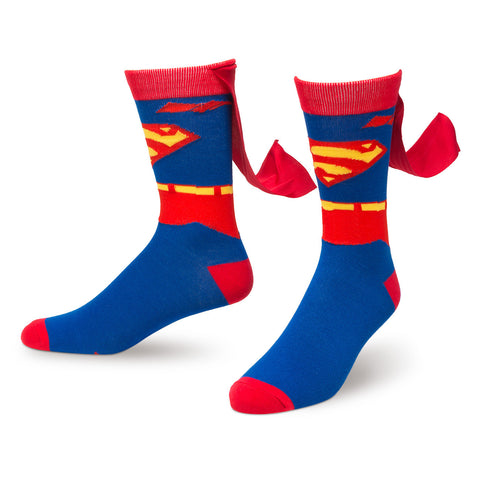 Superman 'Suit Up' Crew Sock with Cape