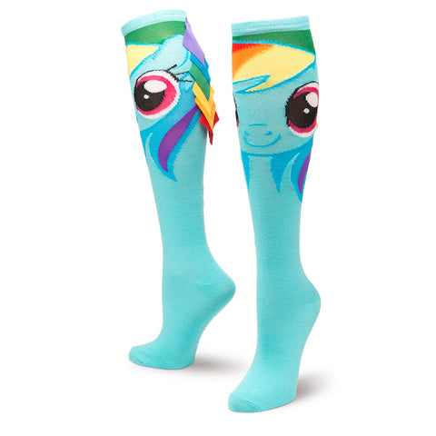 My Little Pony Rainbow Dash Knee High with Hair