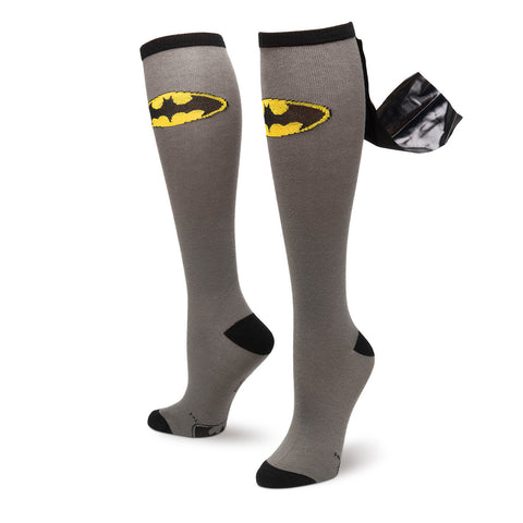 Batman Logo Knee High Shiny Cape Socks