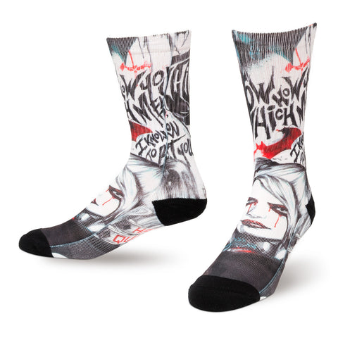 Batman Arkham Graffiti Sublimated Crew Sock