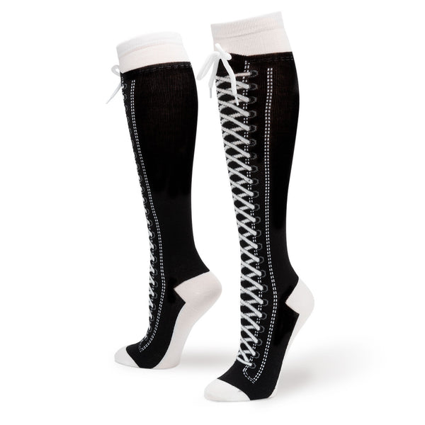 sneaker converse knee high with shoe lace � sock market