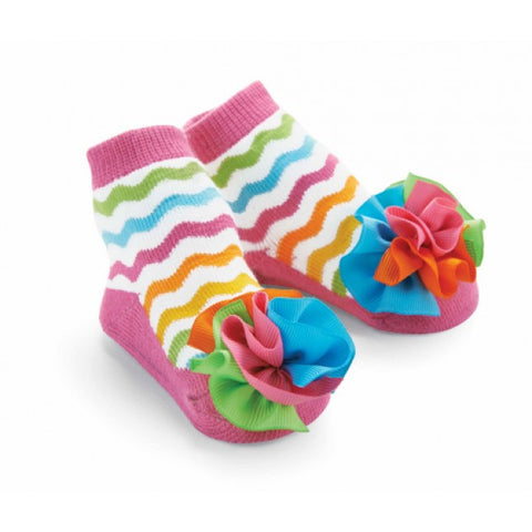 Ziggy Grosgrain Puff Socks