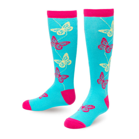 Butterfly Junior Knee Socks