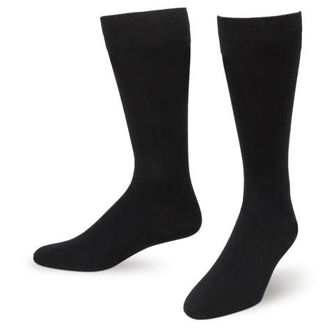Black Solid Color Men's Dress Socks