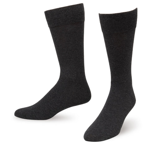 Charcoal Solid Color Men's Dress Socks