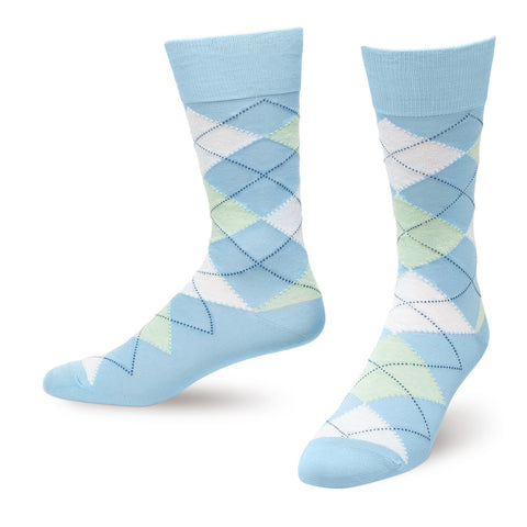 Blue Argyle Men's Dress Socks