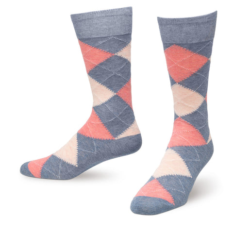Denim Argyle Men's Dress Socks