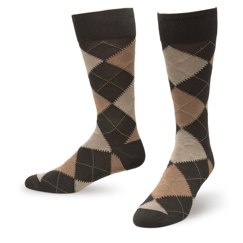 Olive Argyle Men's Dress Socks