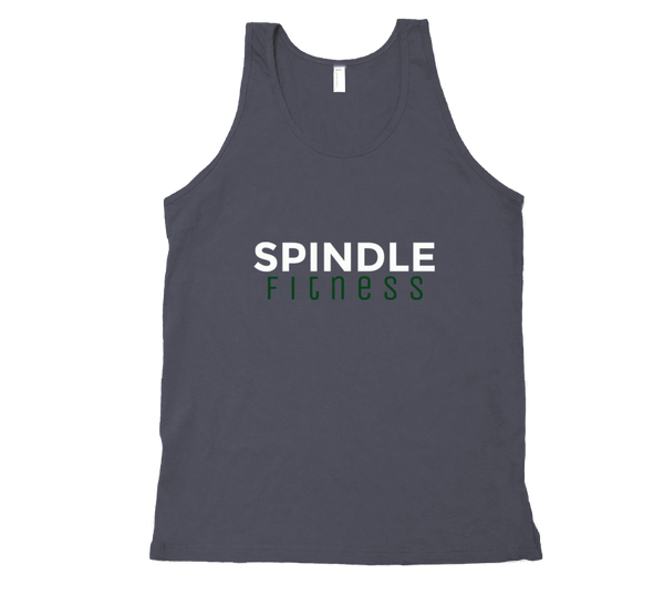 Men's Tank with White/Green Logo (4 Colors)
