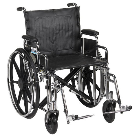 Drive Medical EC Heavy Duty Wheelchair 450 lb Capacity